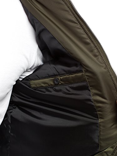 J de de Chaqueta nature Chaqueta 5028 Cuero Jacket 3056 Mix Capucha para Chaqueta 18 Chaqueta con Vaquera Invierno Style Hombres Caqui OZONEE 4FZPw