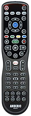 Anderic RRU401 / 4-in-1 Advanced Universal with Backlight and Learning for All TVs, Roku Player, BluRay Player, Audio system, Xbox, and more - Universal Remote Control