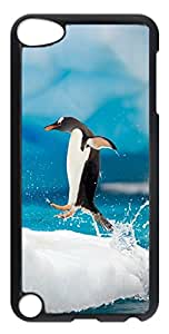iPod Touch 5 Cases & Covers - Penguin Jumping PC Custom Soft Case Cover Protector for iPod Touch 5 - Transparent