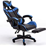 Gaming Chair Ergonomic Computer Gaming Chair with Footrest, Reclining Home Office Chair High Back Racing Style Gamer…