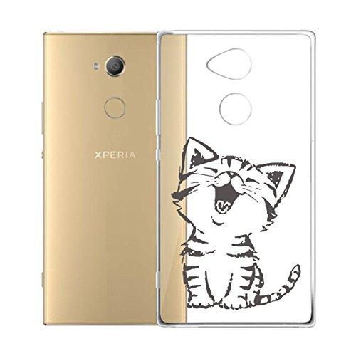 Funda para Sony Xperia XA2 Ultra , IJIA Transparente Verde Pequeño Cute Pet TPU Silicona Suave Cover Tapa Caso Parachoques Carcasa Cubierta para Sony Xperia XA2 Ultra (6.0) WM90