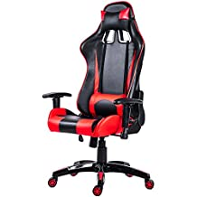Merax Fantasy Series Racing Style Gaming Chair PU Leather Chair (Red)