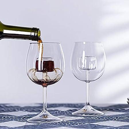 Yuansr Conjunto de Copas de Vino de 2, única, Pareja, Vino Blanco de Vino/Copa de Vino Tinto/Vino espumoso para la celebración del Bar de la Fiesta del hogar. (Size : Style 1)