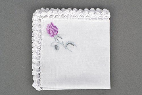Handkerchief Embroidered for Woman Handmade - Handkerchief Handmade Embroidered
