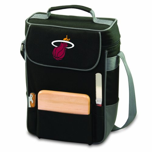 NBA Miami Heat Duet Insulated 2-Bottle Wine and Cheese Tote