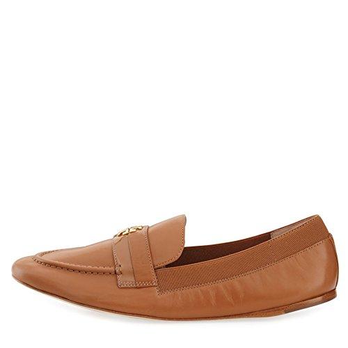 Tory Burch Jolie Loafer Zapatos De Cuero Planos Royal Tan