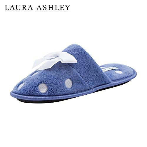Laura Ashley Mesdames Brodé Éponge Terry Pantoufle Peri Fleur