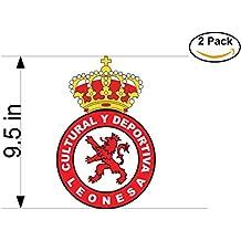 CanvasByLam Cultural y Deportiva Leonesa Spain Soccer Football Club FC 2 Stickers Car Bumper Window Sticker Decal Huge 9.5 inches