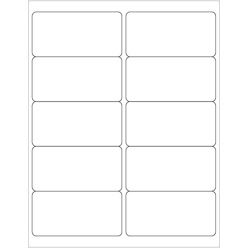 Tape Logic LL124 Laser Labels Rectangle 4 x 2 White (Pack of 1000) by Tape Logic