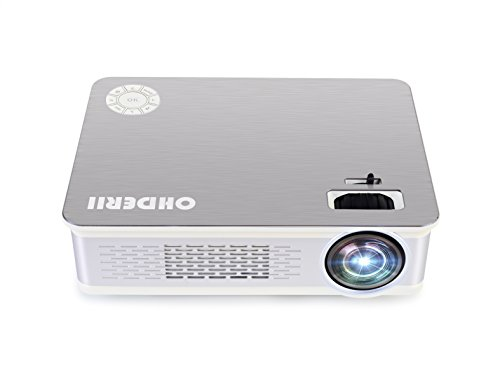 Projector, ohderii Z720 Led Home Projector Support 1080P Multimedia Home Theater Projector Multimedia Projector Support HD 1080P for PC Laptop PS4 XBOX Smartphone Android iPhone TV Box (Silver)