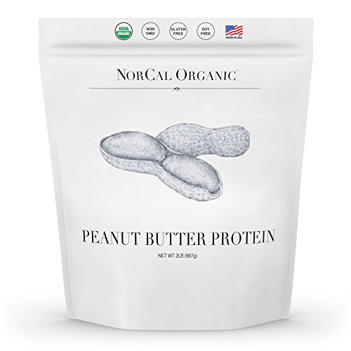 NorCal Organic Peanut Butter Powder, 2lb | 11g protein, 100 calories, 41 servings | Vegan, Natural, Organic, Low - Butter Pb Peanut Fit Powder