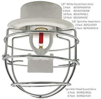 Fire Sprinkler Head Guard for 1/2 NPT Recessed/Sidewall