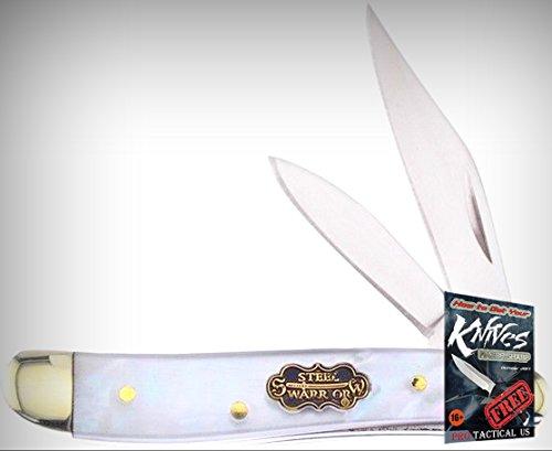 Frost Cutlery FSW107SMOP Steel Warrior Peanut Folding Limited Elite Knife MOP Handle Folder + free eBook by ProTactical'US ()