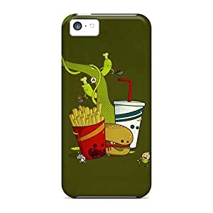 LJF phone case MOICQou4010gvDCs Case Cover, Fashionable iphone 5/5s Case - Fast Food