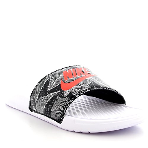 buy online d6e0a d21cb Mens Nike Benassi JDI Print Lightweight Beach Sports Pool Slides Sandals -  White Bright Crimson Black - 10 - Buy Online in Kuwait.