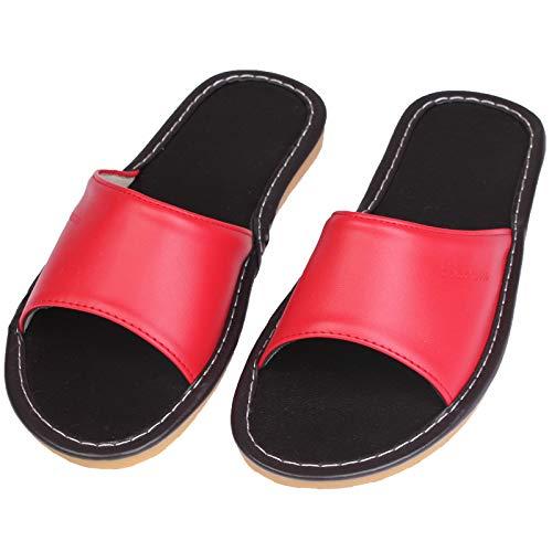 Boeuf Shoe Qsy Et Du Femmes Cuir Rouge Femelle Les Maison Hommes La De L'intérieur Tendon Pantoufles Plancher À Pour rrdwxqZP8