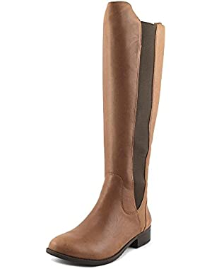 Womens Ranica Leather Round Toe Knee High Fashion Boots