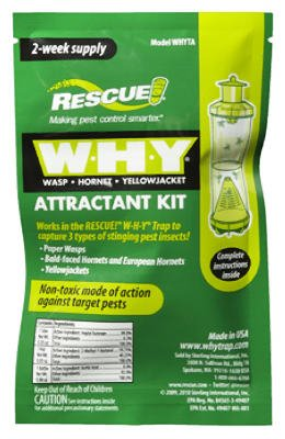 Rescue - WHY Wasp, Hornet, Yellow Jacket Trap Attractant Refills (24 PACKS) by RESCUE!