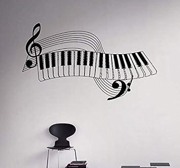Pbldb Nueva Llegada Teclas De Piano Tatuajes De Pared Instrumento ...