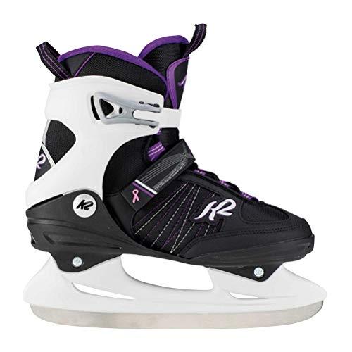 K2 Skate Women's Alexis Ice Skate, Black Lavendar, - Womens Skates Sport Ice Recreational