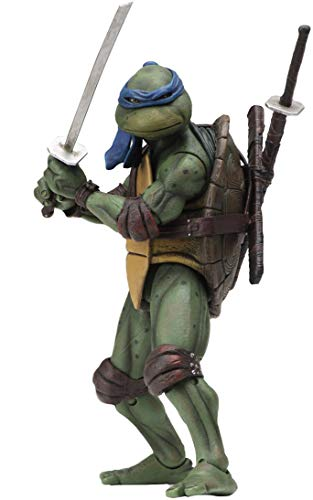 Teenage Mutant Ninja Turtles 90's Movie Leonardo 6.5-inch Action Figure by NECA Reel Toys 2019 GameStop - Toy 1990's