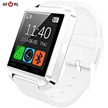 Amazingforless White Bluetooth Touch Screen Smart Wrist Watch