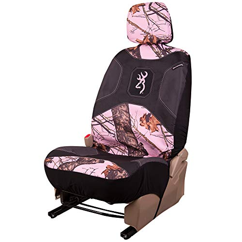 Browning Camo Seat Cover, Low Back, Break-Up Pink, Single