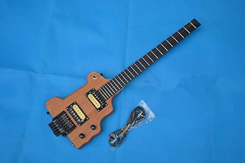 FidgetFidget Headless Electric Guitar With Alder Body In Natural Portable -
