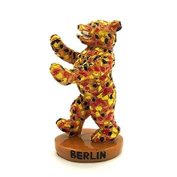 Amazonde 10cm Berliner Bär Statue Aus Polyresin In Mosaik Optik