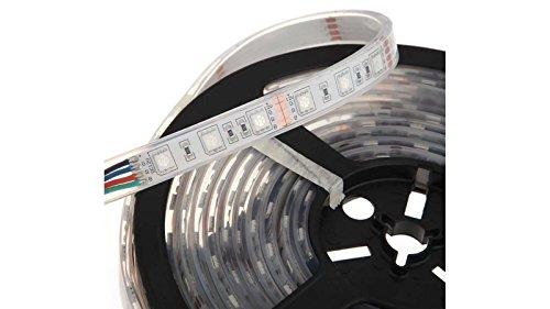 T-H Marine LED-PBDK20RGB-DP Pontoon Flat Flexible Ribbon LED Strip Light Kit - RGB Color Change, Black ()