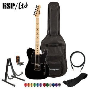 ESP-LTD-TE-212M-BLK-Maple-Electric-Guitar-with-10-Feet-Cable-Strap-Stand-Tuner-ChromaCast-Pick-Sampler-and-ChromaCast-Gig-Bag