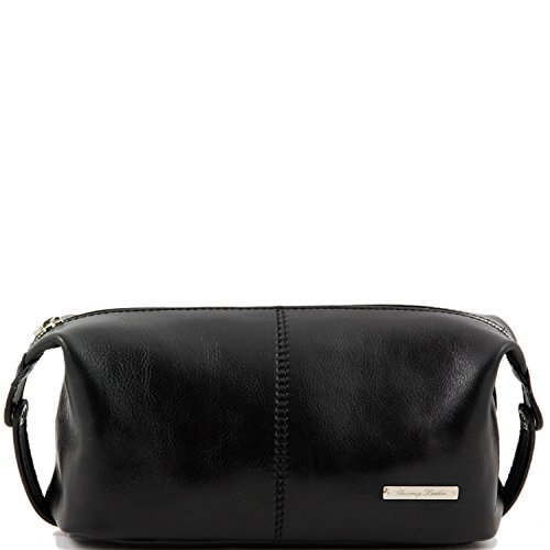 Tuscany Leather - Roxy - Leather toilet bag Black - TL140349/2 by Tuscany Leather