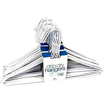 set wire hangers high quality galvanized steel metal coat clothes plastic coating white color wide gauge recyclable target cheap uk