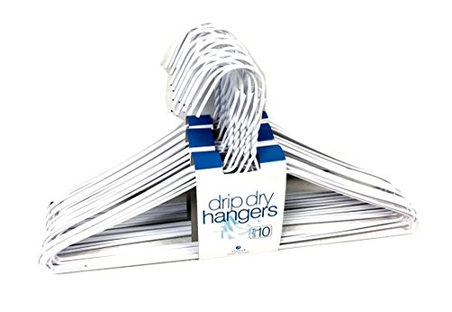 Set of 30 Wire Hangers High Quality Galvanized Steel Metal Coat Clothes Hangers with Plastic Coating White Color 16