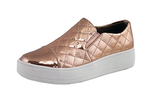 ShopAegis - [TRENDY SNEAKERS][ROSE GOLD] Shiny Textile Comfortable Street Dancer Slip On Shoes [Size 5.5, 6, 6.5, 7, 7.5, 8, 8.5, 9, 9.5,10]
