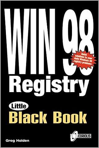Windows 98 Registry Little Black Book (Little Black Books (Coriolis))