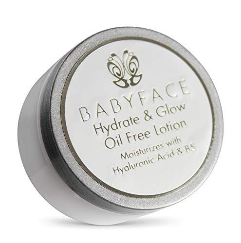 Babyface Hydrate & Glow Oil Free Moisturizer Gel Vitamin B5 & Hyaluronic Acid for Acne Prone Skin