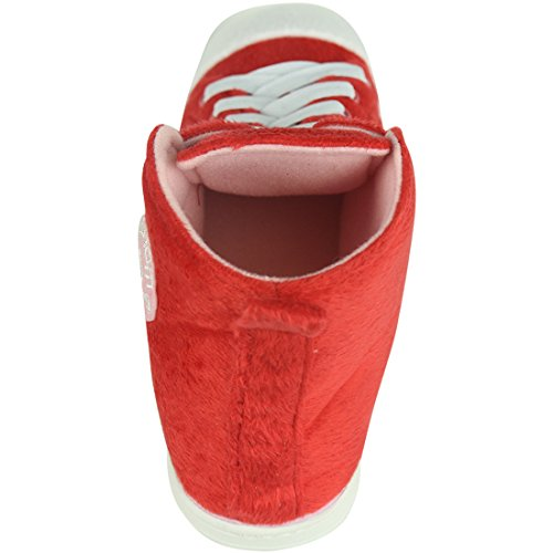 Home Slipper Womens Warm Winter Plush Indoor House Outdoor Sneaker Slippers Boots Red FzzoWFR
