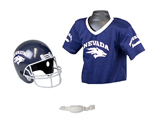 Franklin Sports NCAA Nevada Wolfpack Youth Team Helmet and Jersey Set