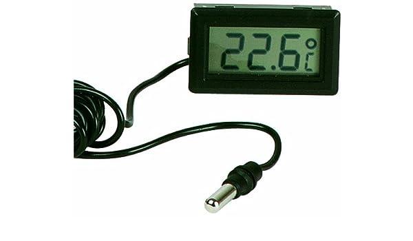 Velleman PMTEMP1 termómetro ambiental - termómetros ambientales (Digital, Rectangular, LR44, 5,25 cm, 2,7 cm, 1,4 cm) Negro: Amazon.es: Bricolaje y ...