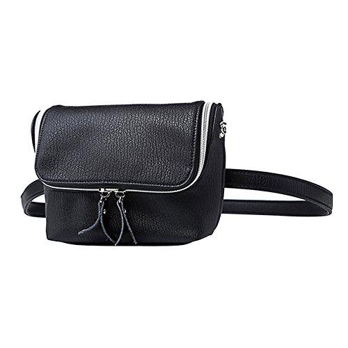 Badiya Women Leather Waist Packs Causal Belt Bag Shoulder Ba