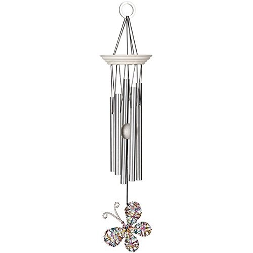 Woodstock Isabelle's Dancing Butterfly Wind Chime, Confetti - Aluminum Butterfly Chair