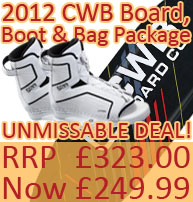 CWB SOL Board, Boot and Padded Bag Package, under £250!