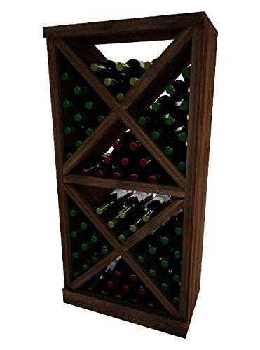 Wine Cellar Innovation Premium Redwood Vintner Series Solid Diamond Cube44; Dark Walnut Stain - 4 ft.