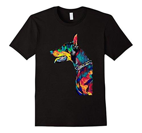 Doberman T Shirt Profile Head Dog Breed Pet True (Doberman Dog T-shirt)