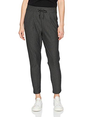 Only, Pantalones para Mujer Multicolor (Dark Grey Melange)