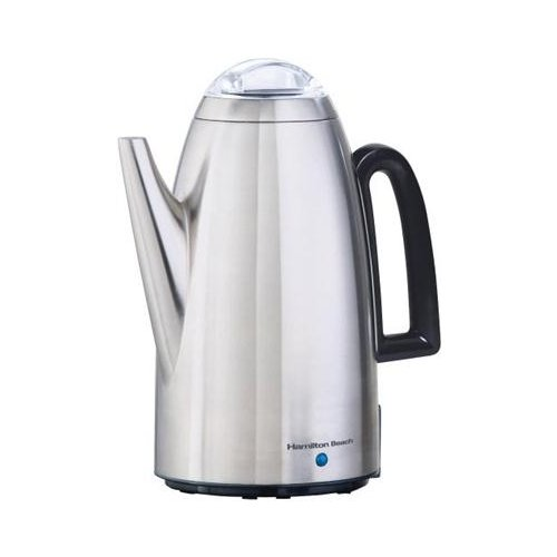 Hamilton Beach 40614 Twist Lid Percolator, Stainless Steel, 12-Cup