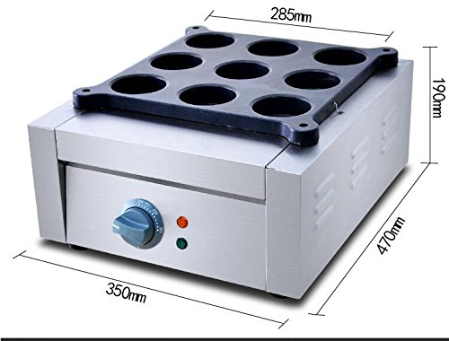Commercial Electrical 9 Grid Wheel Cake Machine Red Bean Cake Machine Waffle Maker (110V) ()