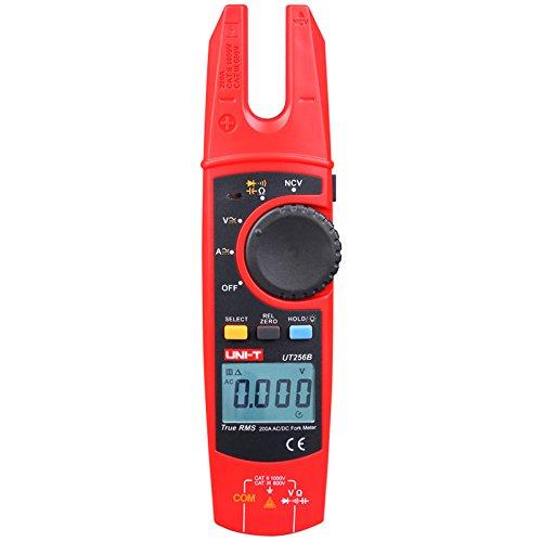 Dc Digital Clamp - Signstek UNI-T UT256B Digital Fork Meter Clamp Multimeter AC/DC Volotage Current Resistance Capacitance NCV Test with Adjustable Backlight