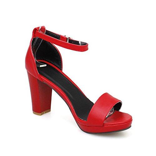 Huarache AdeeSu Puncture beständige nicht Womens Rot SLC03795 Sandalen Urethan markierende UZZxw5Cq6